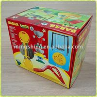 Toy cardboard storage boxes