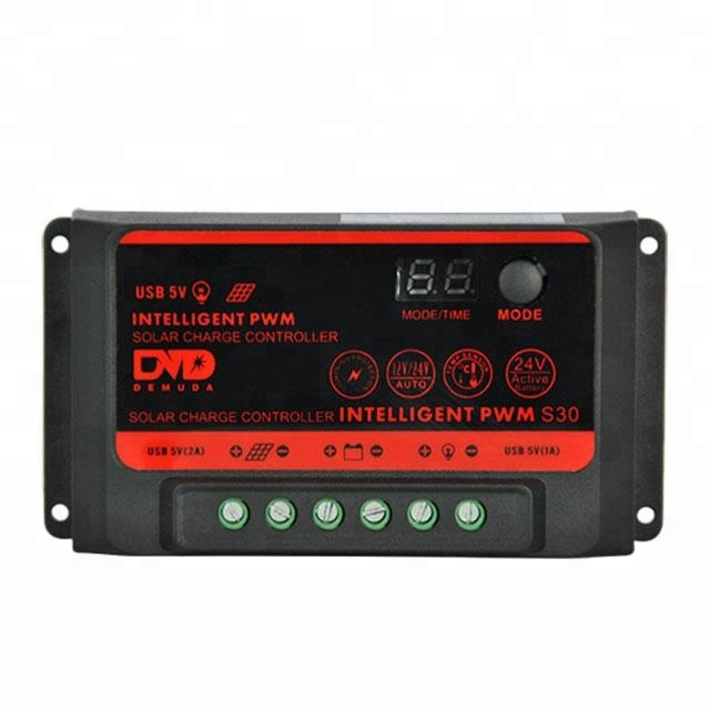 30a LED&LCD Display excellent performance solar charge controller 120v