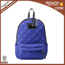 BP0099 Wholesale Fashion Foldable Royal Blue Quilted Ladies Backpack Bags