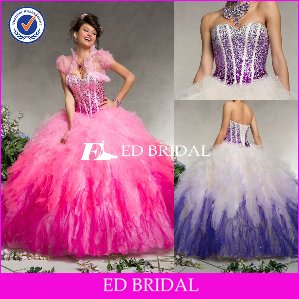 BY1238 New Design Ball Gown Sweetheart Quinceanera Dresses With Detachable Skirt