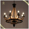 American Country Style Round Shade Iron Pendant Lamp Rope Candle Lamp Holder Large Artificial Lamp