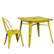 Home furniture metal top indoor dining room table