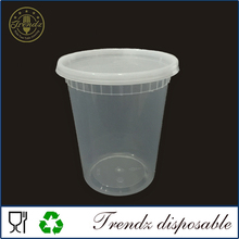 32oz deli PP plastic disposable food storage container used container for sale