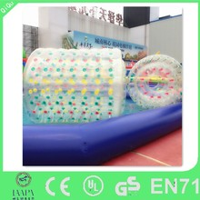 long aqua ball inflatable water roller for pool