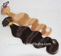 TOP quality 100% Brazilian Hair extension Hair weft Body Wave blonde color