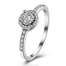 1 Carat Solitaire Diamond Ring 925 Sterling Silver Wedding Rings China CZ Wholesale Ring CZ Jewelry