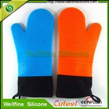 Waterproof silicone gloves /heat resistant silicone oven gloves with fingers