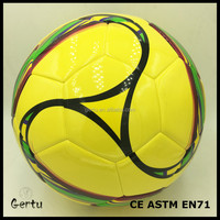 Famous brand quality Mirror Leather laminated soccer ball