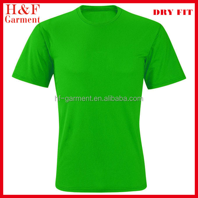 Cheap Plain Green T-shirts Made Of Polyester Mesh Cool Fit - Buy ...