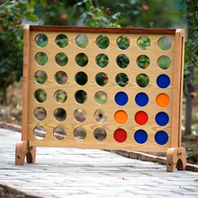 PERFECT Natural varnished giant connect 4 game for education and family enjoy with 42 PP chips