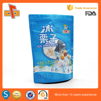 resealable plastic zipper bag for snack food