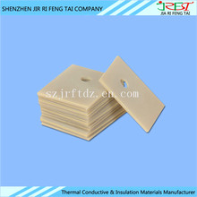 High Thermal Conductivity Heat Sink Insulating Industrial Aluminium Nitride / ALN Ceramic Substrate For High Power LED