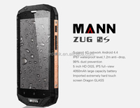 MANN ZUG 5S+ Quad core 5.0 Inch 2GB RAM/16GB ROM IP67 Waterproof 4G LTE rugged smartphone