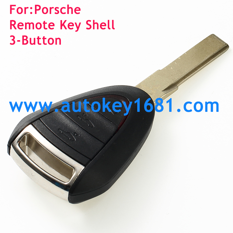 3 Button Remote Fob Key Case Shell Fob Blade For Porsche Cayenne 996 911 Boxster