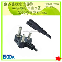 South Africa and India 3 round pin non-rewirable power cord