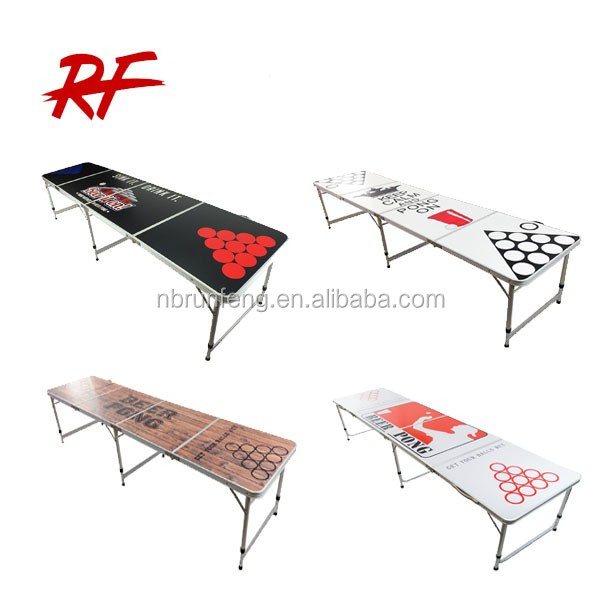 Direct factory customs design 8ft folding beer pong table
