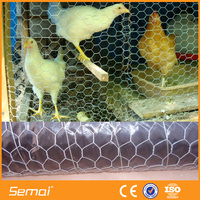 PVC coated rabbit cage hexagonal shape wire mesh cages(ISO9001 ,SGS )