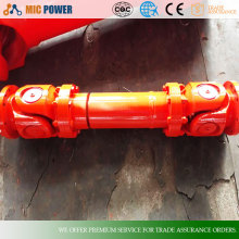 SWC-BF flange type cross cardan shaft with telescopic,universal joint couplings price