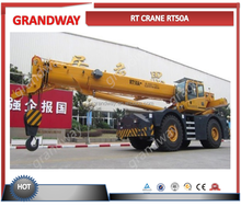 RT50A 50 ton china rough terrain crane sale rt crane