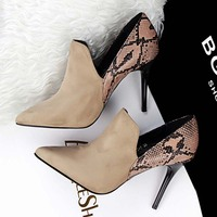 SAA4795 Fashion pointed toe suede stiletto heel sexy ladies high heel shoes
