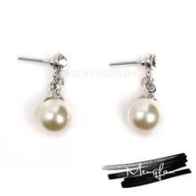 2016 new excellent pearl earring/pearl earring designs/double sided pearl earring
