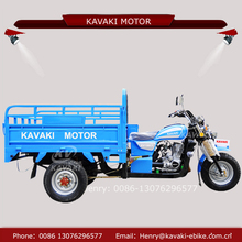 Kavaki motorized industrial three wheeler express truck larger higher close carriage tricycles for sale