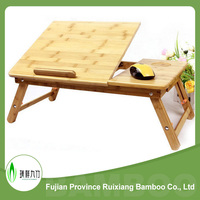Portable eco-friendly bamboo laptop bed table for laptop