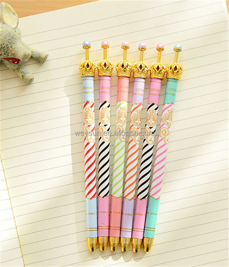 Gold Crown ballpoint pens Blue ink pen korean Stationery material escolar office school supplies
