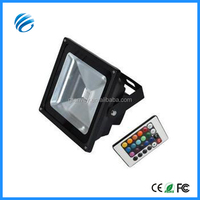 50W IR/RF/DMX controller 15-20m induction distance rgb long range led flood light