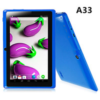 "7"" durable cheap android tablet a33 quad core 512/4gb in stock"