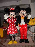 quality adult mickey mouse costume, cartoon character mascot costumes