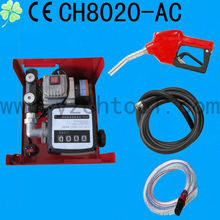 CE certification 12Volt diesel pump with hose and nozzle /oil pump with flow meter /oil hoseCH8020