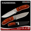 2016 factory wholesale wooden handle fixed blade knives with nylon sheath