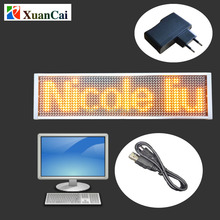 High brightness LED placard USB computer programmable scrolling message rechargeable LED moving message