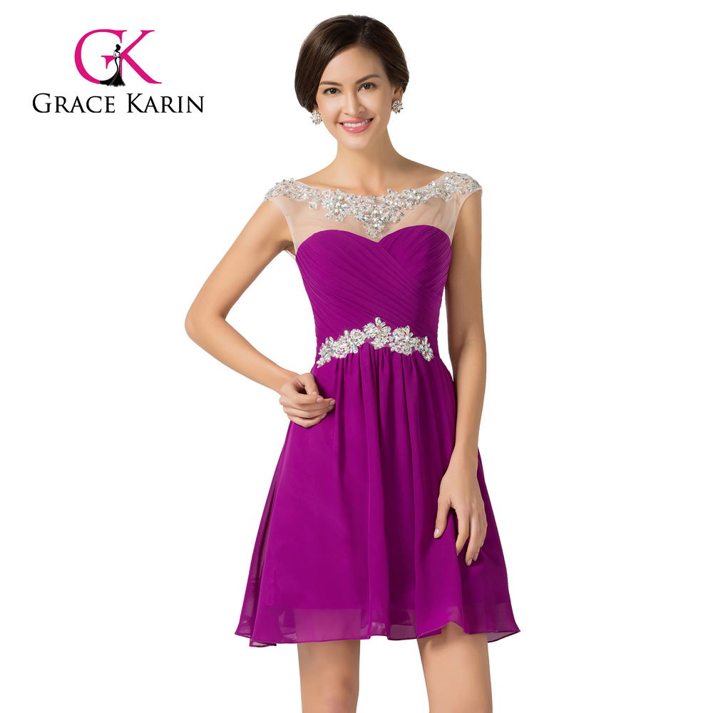 Grace Karin New Arrivals Cap Sleeve Beaded Short Girls Prom Party Dresses CL7536-2