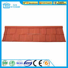 Spanish red stone coated metal roof tile same as Decras roofing