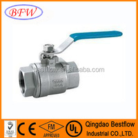 Two Pieces 150LB-2500LB Cast Steel Stainless Steel Ball Valves