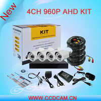 960P AHD Camera Kit 1.3MP AHD Camera with 960P 4CH AHD DVR HD CCTV DVR System