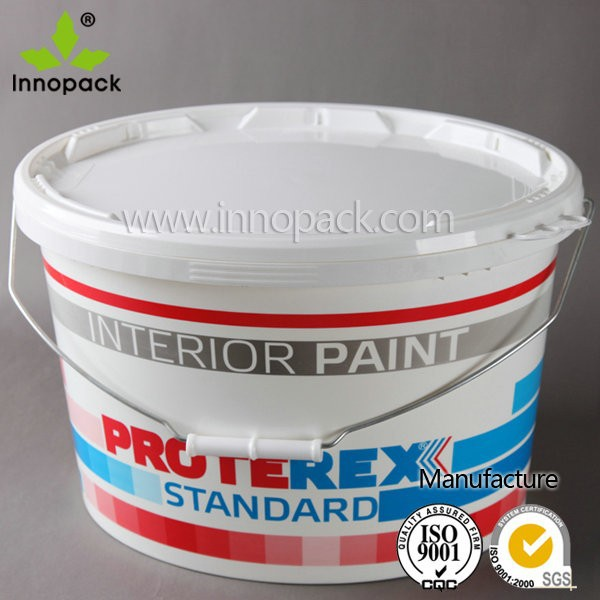 7.5 liter and 15 liter oval shape plastic paint bucket price