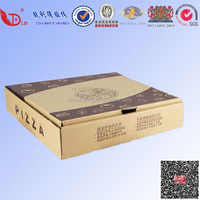 2016 new style high quality kraft brown pizza box