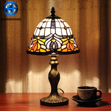 Cute glass lamp shade laser cut lamps antique bedside table lamp