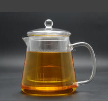 Heat Resistant 900ml hand made Borosilicate Glass Teapot with Infuser