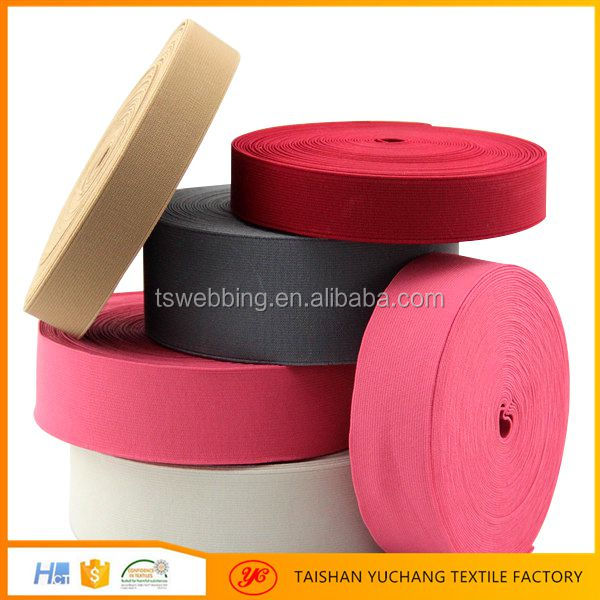 Factory Custom High Tenacity Eco-friendly color woven elastic material