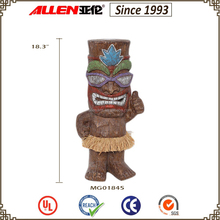 "18.3"" wholesale different types garden decor resin tiki statue"