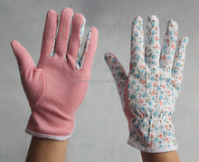 colorful pvc dots coated lady garden labor protection gloves