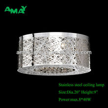 New design stainless teel ceiling lighting with crystals