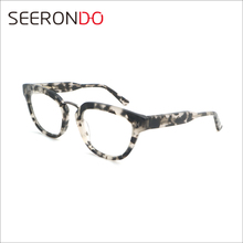SEERONDO Latest Style Eyeglasses Classical Optical Glasses Unisex Acetate Frame