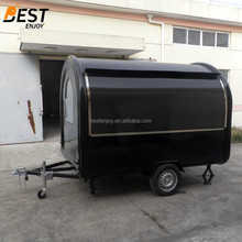 2.8x2.0meters round fiberglass mobile food enclosed car trailer