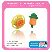 Plastic stack spinning tops toys stackable top