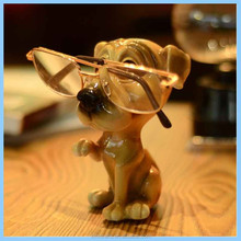 Resin Creative Cartoon Poodle Glasses Stand Decoration, Resin Cute Big Eyes Waving Dogs Glasses Stents Home Decorations